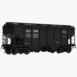 3d covered hopper car