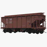 Covered Hopper Car Generic 3D Model