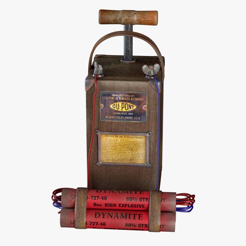 3d detonator dynamite model