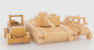 3d package wooden toy model