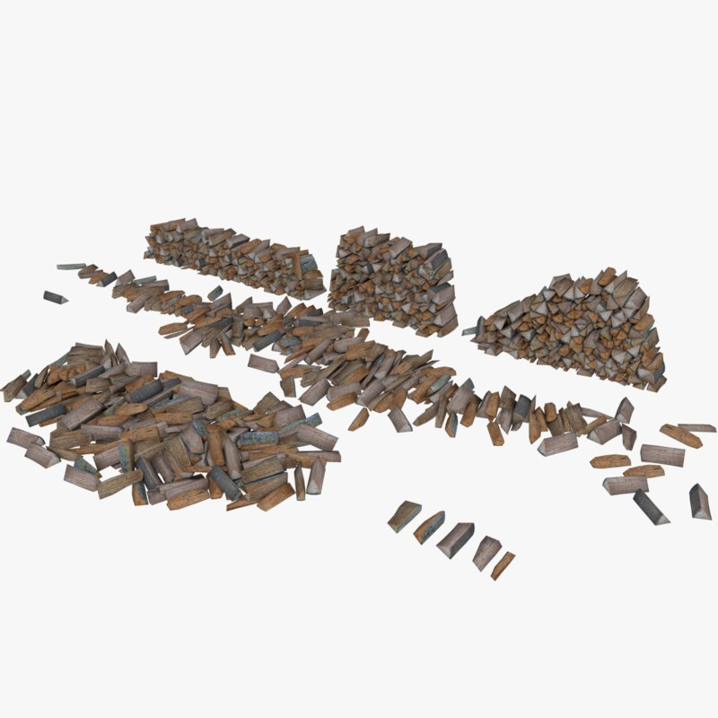 firewood type 1 3d model