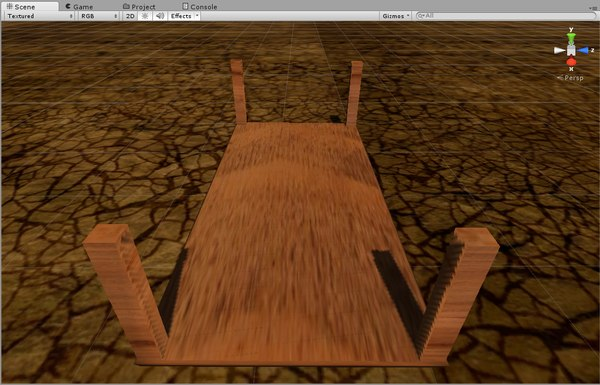 free fbx model pressed wood chair table