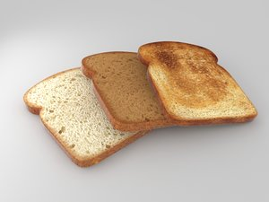 bread slices 3d model