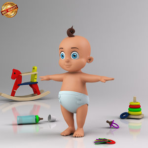 3dsmax cartoon baby infant