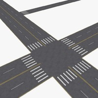city roads construction kit 3d 3ds