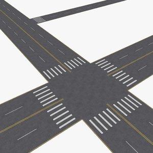 city roads construction kit 3d 3ds