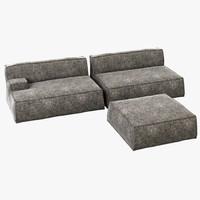 3d model baxter damasco sofa