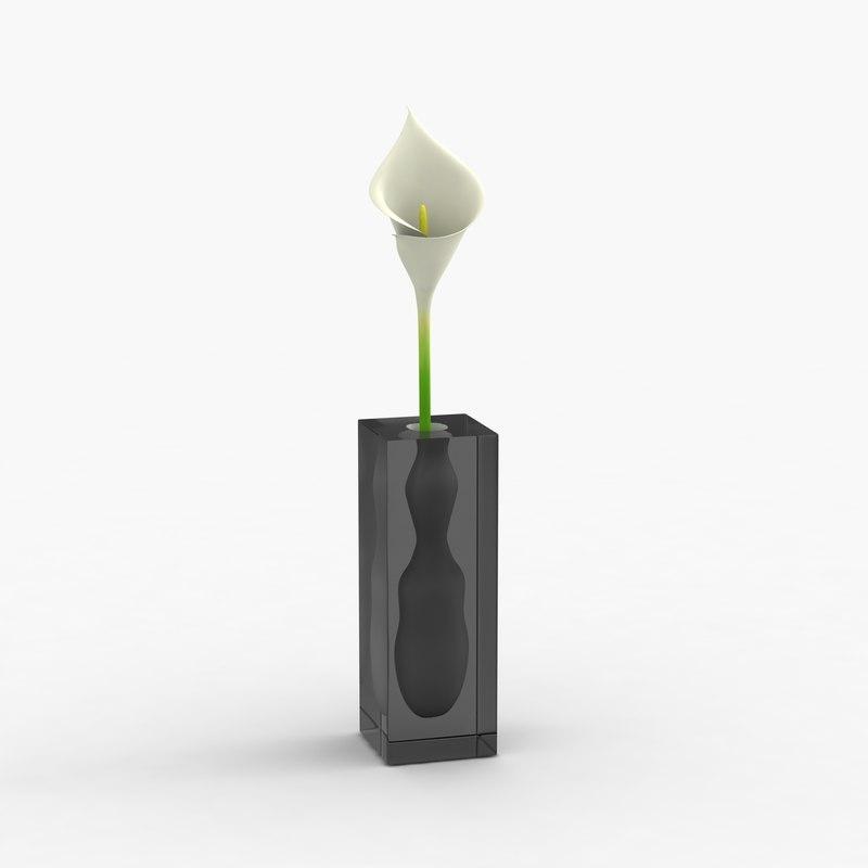 modern vase flower 3d model