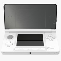 3d nintendo white modeled model