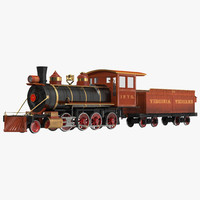 3d steam train wagon 2