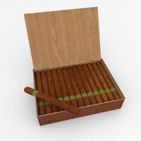 3d model cigar box