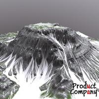 obj cliffs terrain modeled