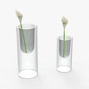 3ds max modern vases flowers