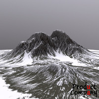 cliffs terrain modeled 3d model