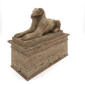 egypt egyptian sphinx 3d model