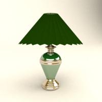 obj table lamp gold line