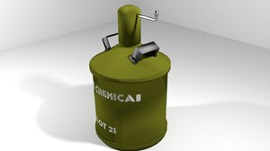 3d landmine chemical gas model