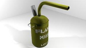 3d model landmine flame