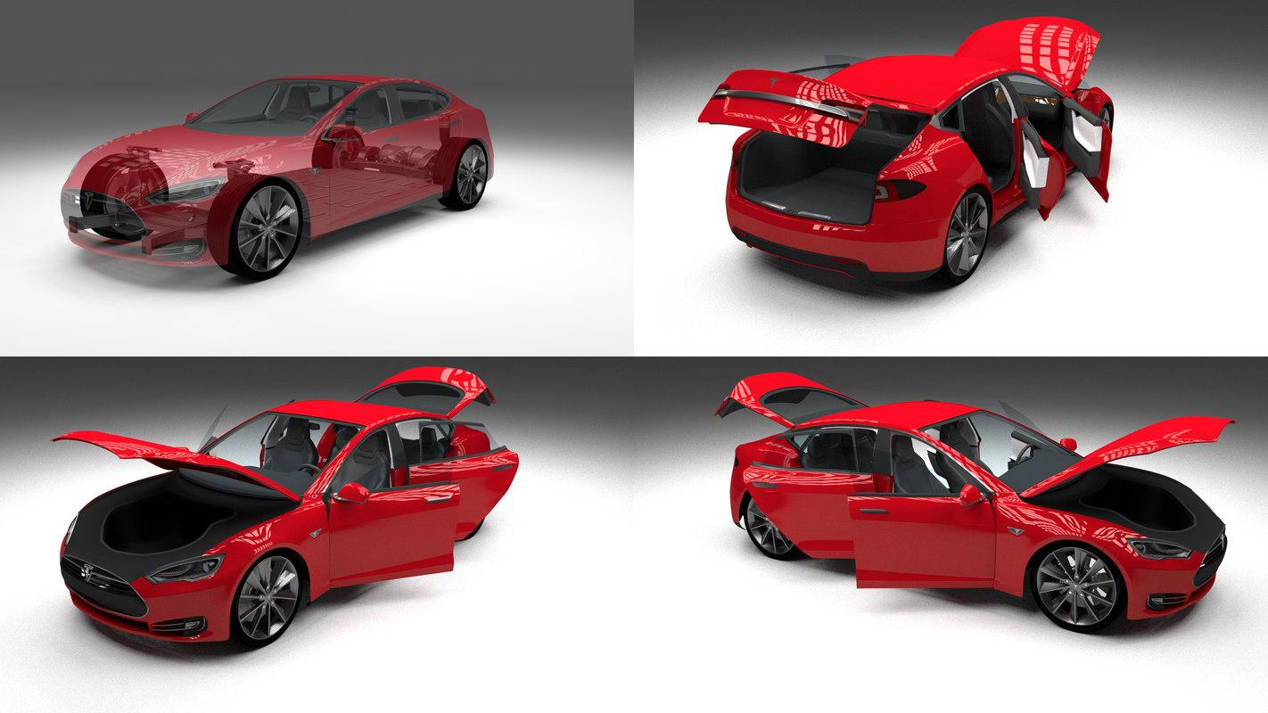 3ds max tesla s interior modeled