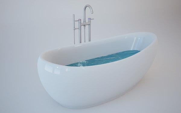 nearia bath 3d c4d