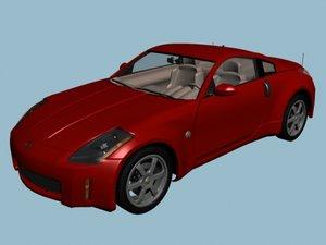 nissan sportcar 3d max