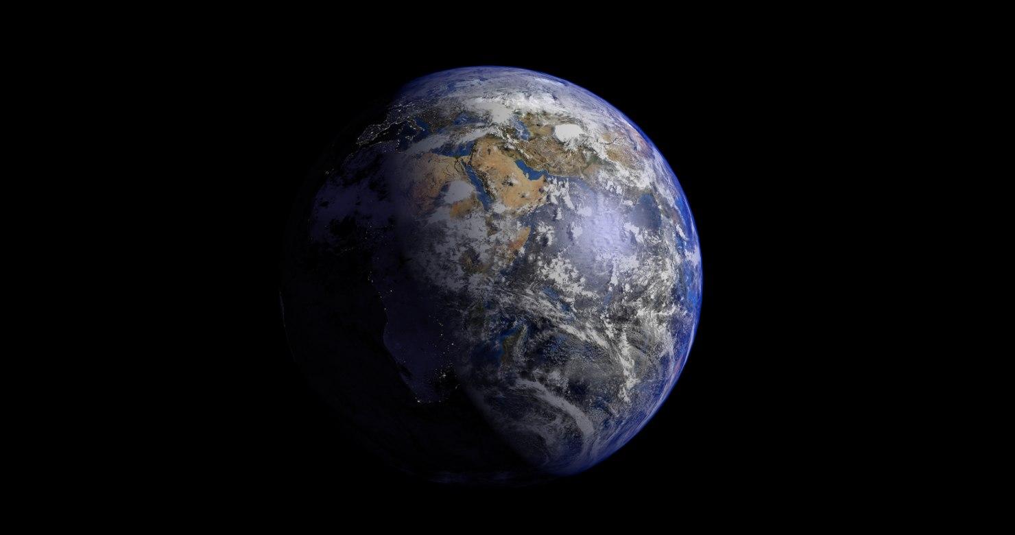 earth blender 3d model