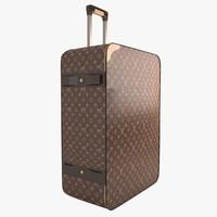 louis vuitton suitcase 3d model