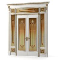 luxury double door 3d model