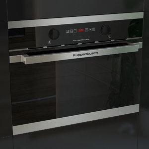 kuppersbusch microvawe 3d model