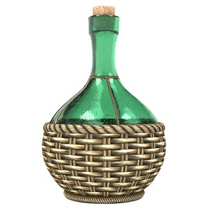 cycles bottle wine flask 3d 3ds