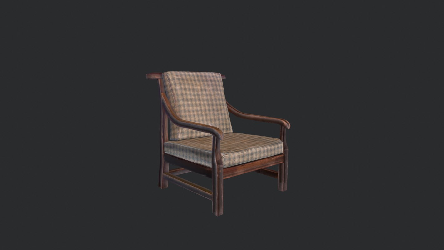 3ds max ready pbr chair