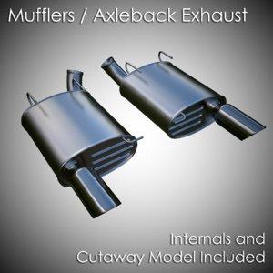 3d stock muffler model