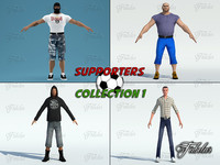 3d model supporters 1