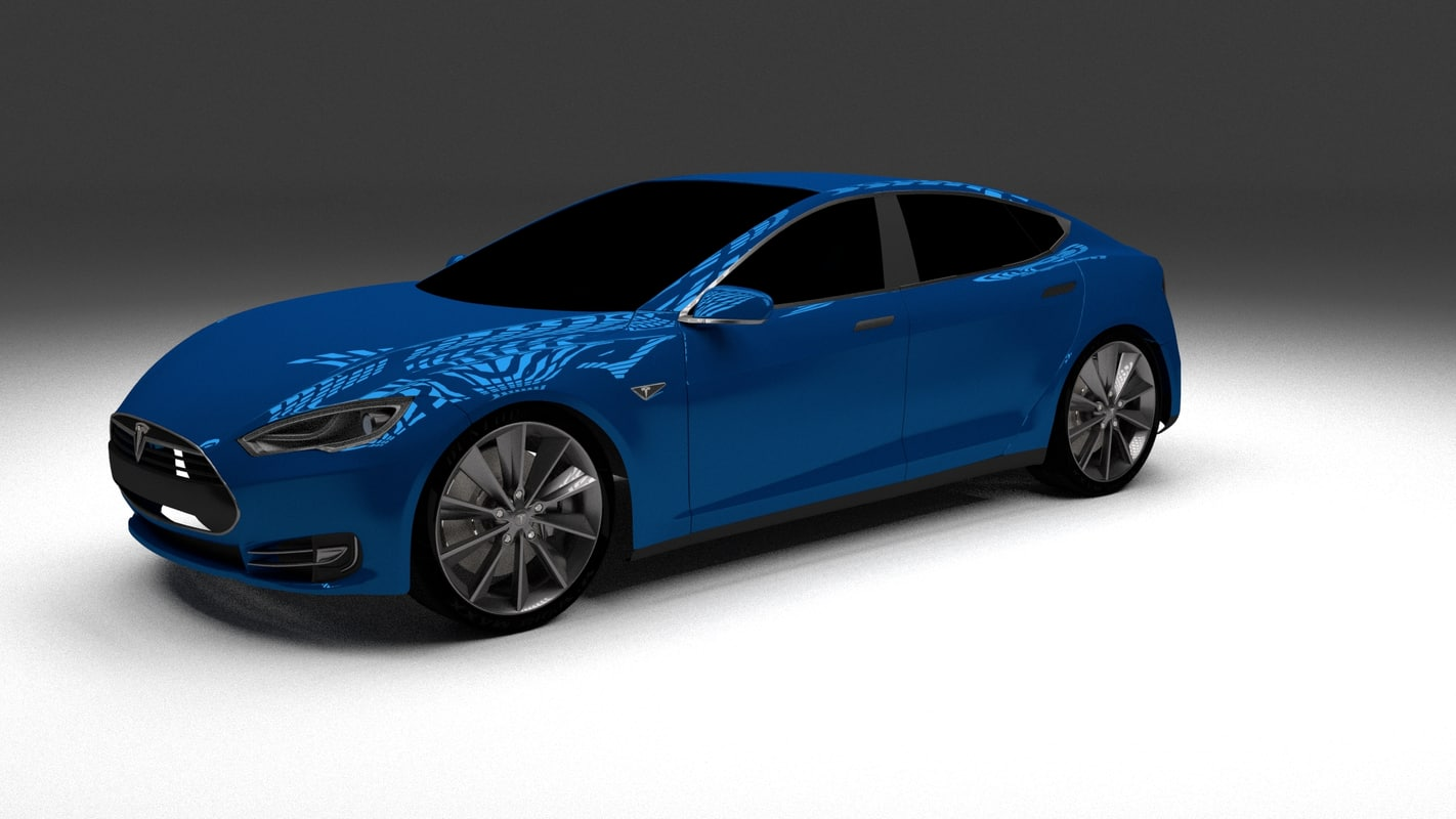 3d model of tesla s