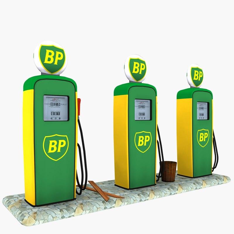 gas pump bp 3d max