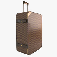 3d louis vuitton suitcase model