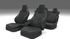 3d tesla s seats