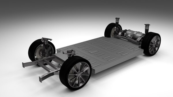 3d model tesla s chassis