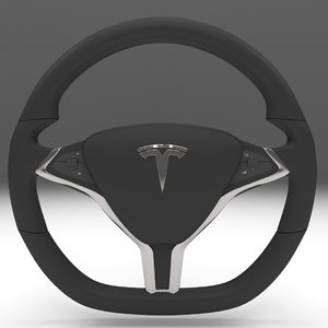 3d model tesla s steering wheel