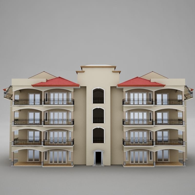 tropical latin beach tower 3d model