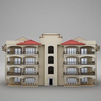 tropical latin beach tower 3d model