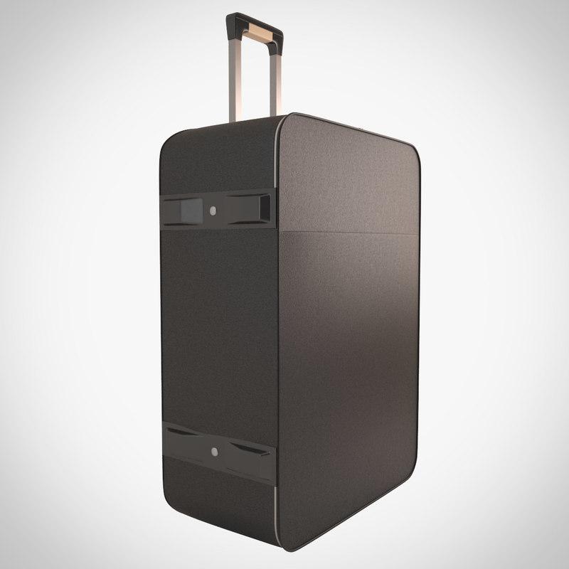 3d suitcase model