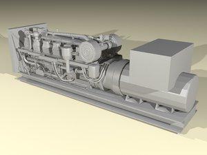 3d generator parts model