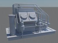 free oil rig 3d model