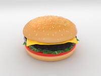 3D Cheeseburger Model