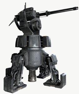 free turret pbr unity 3d model
