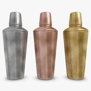 3d model cocktail shaker vintage 3