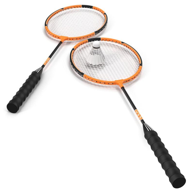 3d badminton racket shuttlecock model