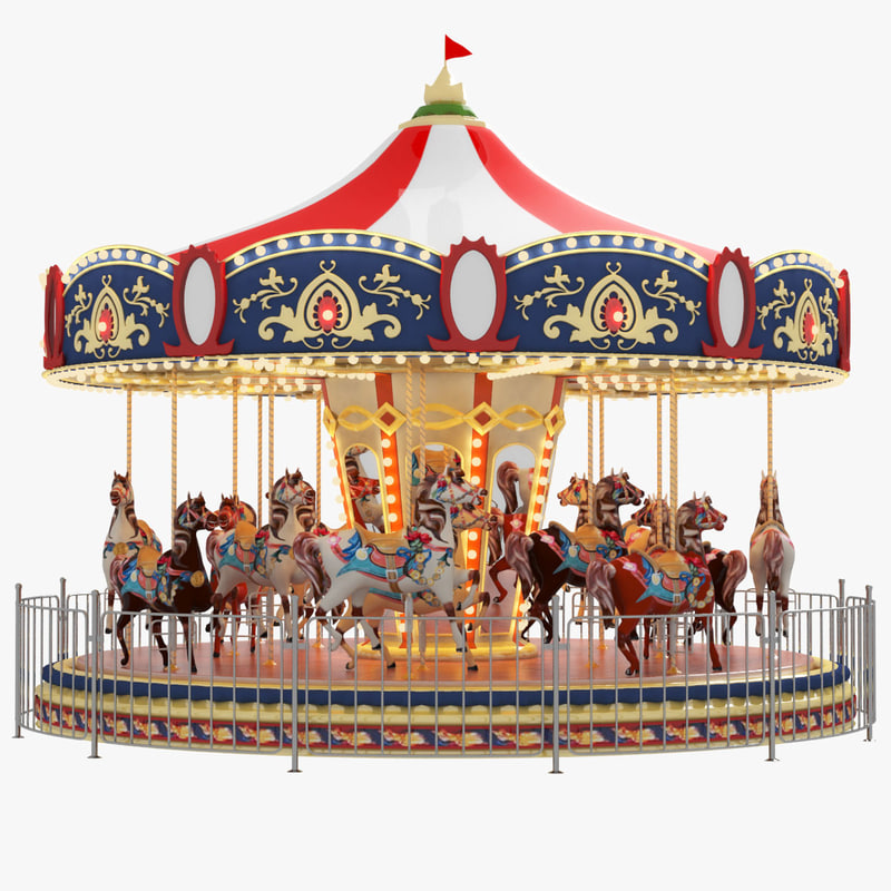 park ride carnival casino highend 3d model turbosquid