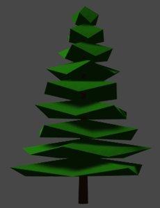 pine fir tree obj